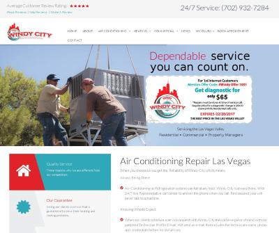 Windy City Air Conditioning & Heating Services Las Vegas & Boulder City. NV