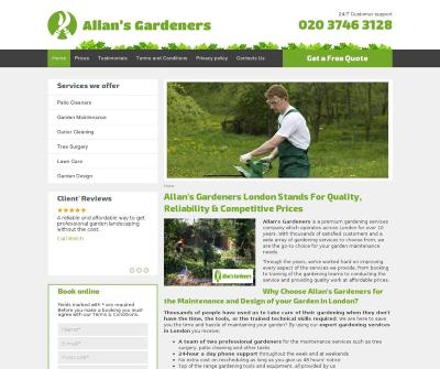 Allan''s Gardeners Landscape and Garden Design London UK