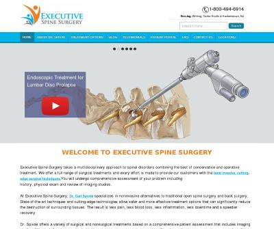 Executive Spine Surgery Laser Spine Surgery Dr Carl Spivak, MD, Hackettstown, NJ