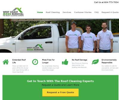 West Coast Roof Cleaning Roof Demossing, Moss Removal,Vancouver, B.C.
