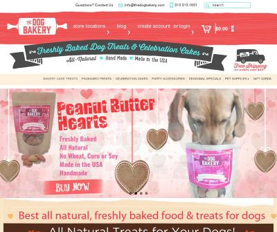 The Dog Bakery Fresh Baked Natural Gourmet Dog Treats Premium Pet Food Los Angeles CA,