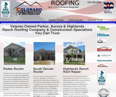 Colorado Construction & Restoration, LLC Roofing Contractors Parker Roofing