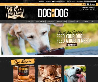 Dog for Dog Signature Line of All-Natural Dog Food DOGSBUTTER, DOGSBAR, DOGSTREAT