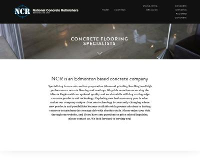 National Concrete Refinishers NCR Concrete Flooring, Coatings Edmonton