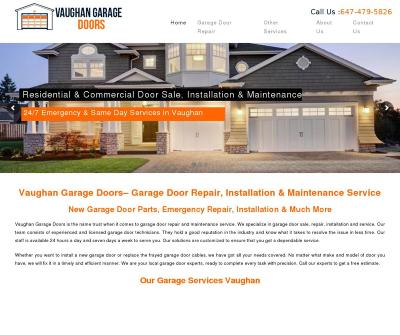 Garage Doors Vaughan Garage Door Repair, Installation & Maintenance Service Toronto Canada