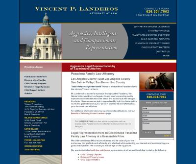 Vincent P. Landeros Legal Separation,Child Support,Divorce Lawyer Pasadena CA