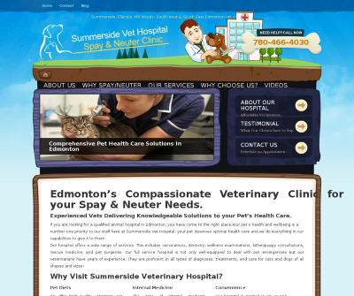 Summerside Vet Hospital Total Animal Veterinary Services Edmonton Canada