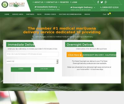 Pot Valet Medical Marijuana Delivery Service California