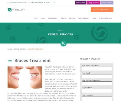 Dental Braces Treatment in Greater Kailash, South Delhi, India-Drkandhariclinic