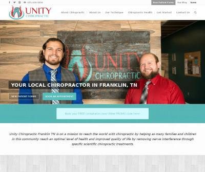 Unity Chiropractic Remove Nerve Interference Scientific Treatments Franklin TN