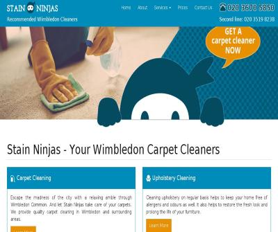 Stain Ninjas Quality Carpet and Upholstery Cleaning Wimbledon area UK