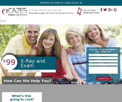 Cazes Family Dentistry LLC Dr. Jay Cazes, DDS & Dr. Janice Cazes, DDS Long Valley NJ