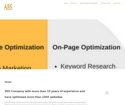 ABS Aryan Business Solutions Search Engine Optimization Service Companies in Chennai