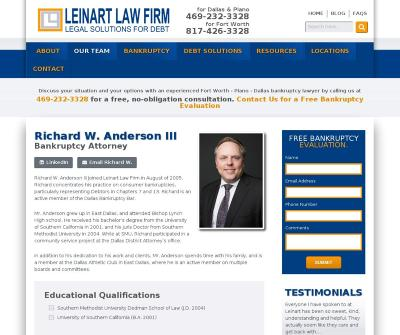 Richard W. Anderson III Bankruptcy Attorney