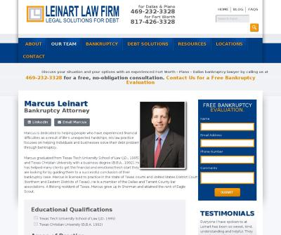 Marcus Leinart Bankruptcy Attorney