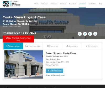 Costa Mesa Urgent Care | Family Care Centers