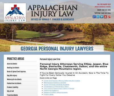 Appalachian Injury Law East Ellijay,GA  Auto Accidents Boating Accidents Brain Injuries