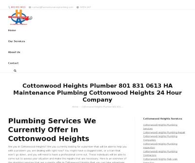 Cottonwood Heights Plumber