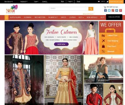 Indian Traditional Clothing | Buy Online Indian Dresses & Wedding Suits - Nihal Fashions