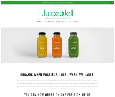 JuiceWell Providing Natural Juices