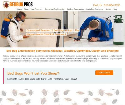 Bed Bug Extermination Services In Kitchener & Waterloo