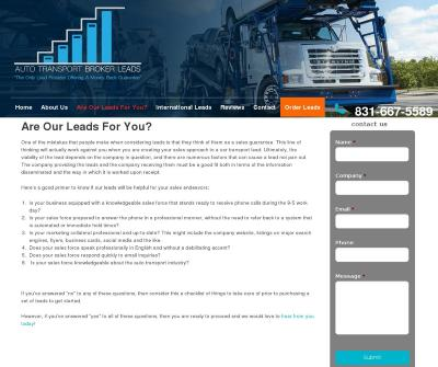 Auto Transport Broker Leads