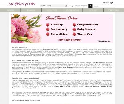 SendFlowersAndMore- Online Flower Shop