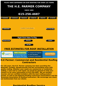 HE Parmer Nashville,TN Residential Roofing Commercial Roofing