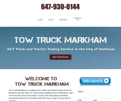 Tow Truck Markham,Ontario, Canada 24-Hour Emergency Towing Battery Boost Car Lockout Service