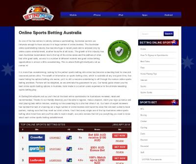 Bets Online on Sports in Australia