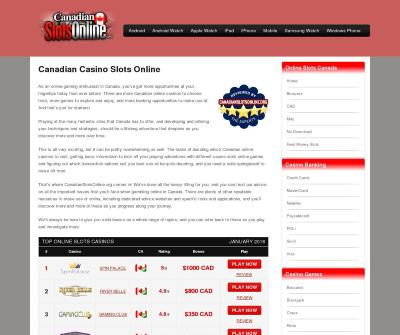 Online Casino Slots for Canadian Players