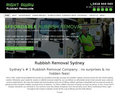 Right Away Rubbish Removals Sydney, Australia Rubbish Removals Builders Waste