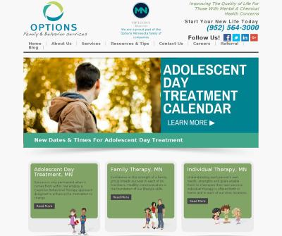 Options Family & Behavior Services, Inc. Burnsville,MN Adolescent Evening Outpatient Program