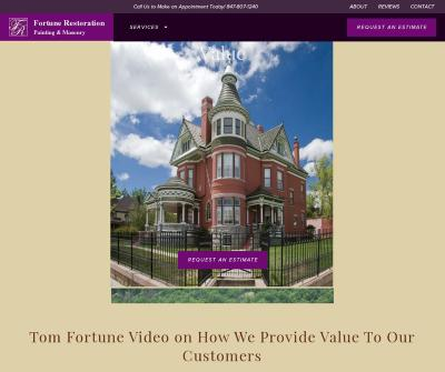 Fortune Restoration Company Chicago, IL Residential Painting Masonry Historical Landmarks