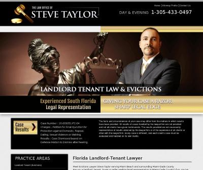 Steve Taylor Real Estate & Evictions Lawyer Miami Beach,FL Landlord Tenant (Evictions)