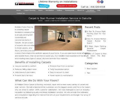 Multiple Choice Flooring Oakville, Canada Carpet Installation Carpet Repair Carpet Tile