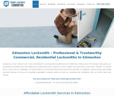 Prompt Locksmith Edmonton, Canada Residential Commercial Automotive Emergency