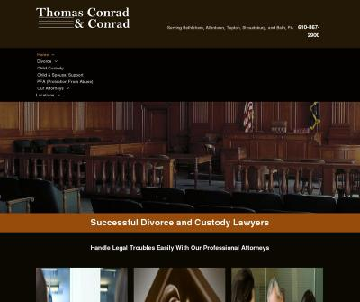 Thomas Conrad & Conrad Bethlehem, PA Divorce Child Custody Child Support