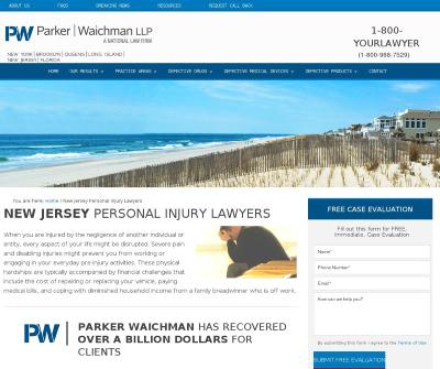 New Jersey Personal Injury Lawyers - Parker Waichman LLP Complex Litigation