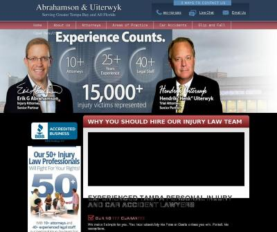 Abrahamson & Uiterwyk St. Petersburg, FL Car Accidents Truck Accidents Motorcycle Accidents