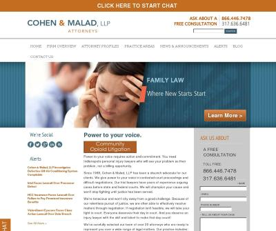 Cohen&Malad, LLP Indianapolis, IN Pharmaceutical Drug & Medical Device Litigation
