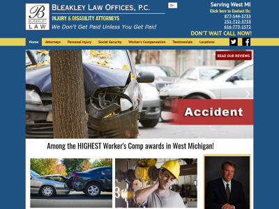 Bleakley Law Offices, P.C. Muskegon, MI Personal Injury Social Security