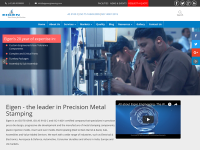EIGEN McAllen, TX Design & Engineering Tooling Precision Metal Stamping Assembly