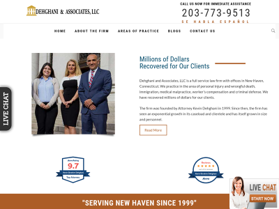 Dehghani & Associates New Haven,CT Personal Injury Negligent Security Medical Malpractice
