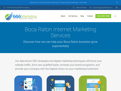 GGG Marketing Boca Raton, FL Web Development Online Marketing Sales Optimization