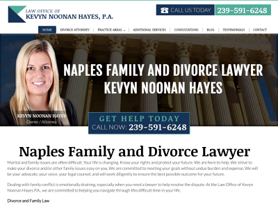 Naples Family and Divorce Lawyer Kevyn Noonan Hayes