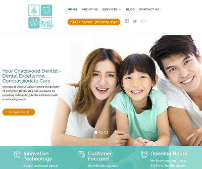Evergreen Dental Clinic Chatswood,NSW, Australia General Dentistry Cosmetic Dentistry