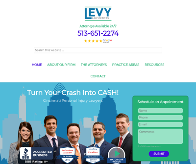 Levy Law Offices Cincinnati,OH Motor Vehicle Accidents Personal Injury Wrongful Death