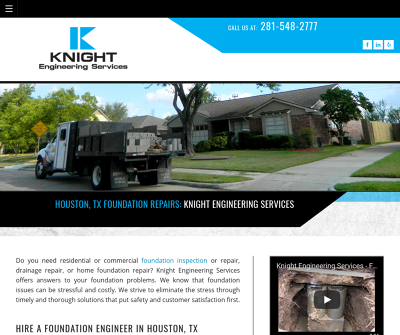 Knight Engineering Services Houston,TX Inspection Lifetime Warranty Foundation Repair