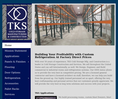 TKS Cold Storage MFG & Construction Martinez,CA Refrigerated Warehouses